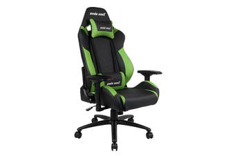 Anda Seat AD7-23 Large Gaming Chair with 4D Armrest, 60mm Casters, Premium Black Aluminium Feet - Black/Green