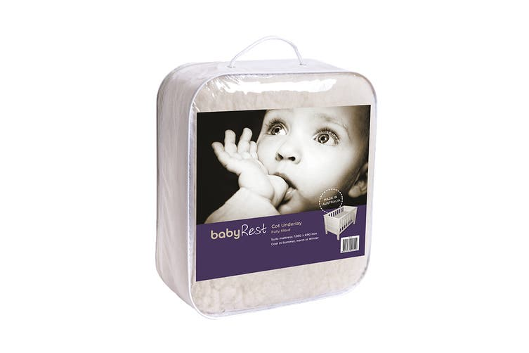 Babyrest Fully Fitted Lambswool Cot Underlay - Standard (AL17)