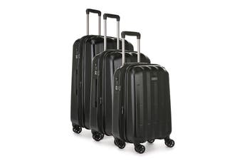 Antler Global 3 Piece Hardside Roller Luggage Case Set - Black