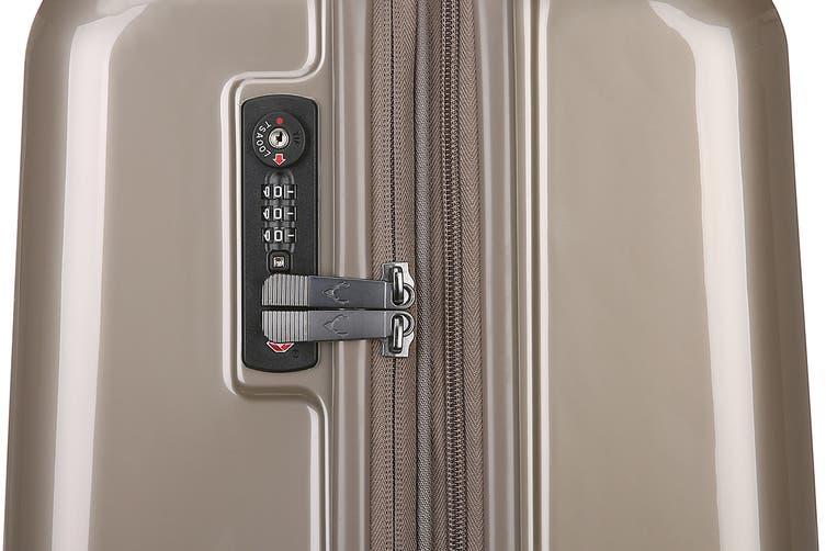 Antler Global 3 Piece Hardside Roller Luggage Case Set - Champagne