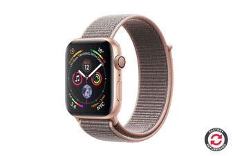 Apple Watch Series 4 Refurbished (Gold, 40mm, Pink Sand Sport Loop, GPS Only) - A Grade