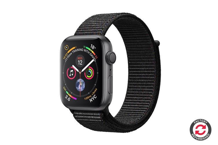 Apple Watch Series 4 Refurbished (Space Grey, 44mm, Black Sport Loop, GPS Only) - A Grade