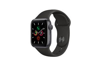 Apple Watch Series 5 (Space Grey Aluminum, 40mm, Black Sport Band, GPS Only)