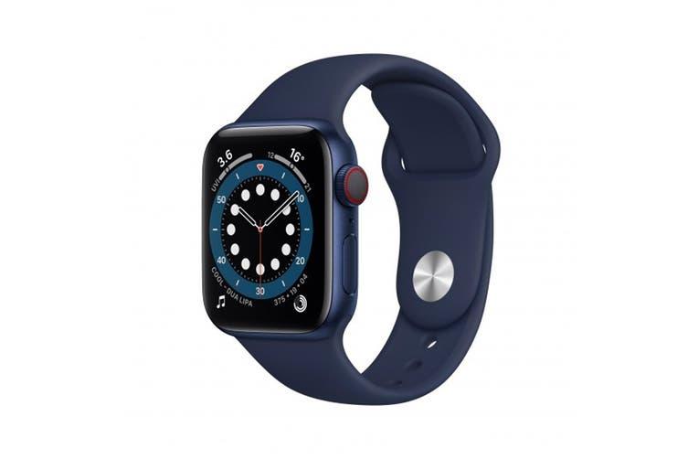 Apple Watch Series 6 (Blue Aluminium, 44mm, Deep Navy Sport Band, GPS Only)