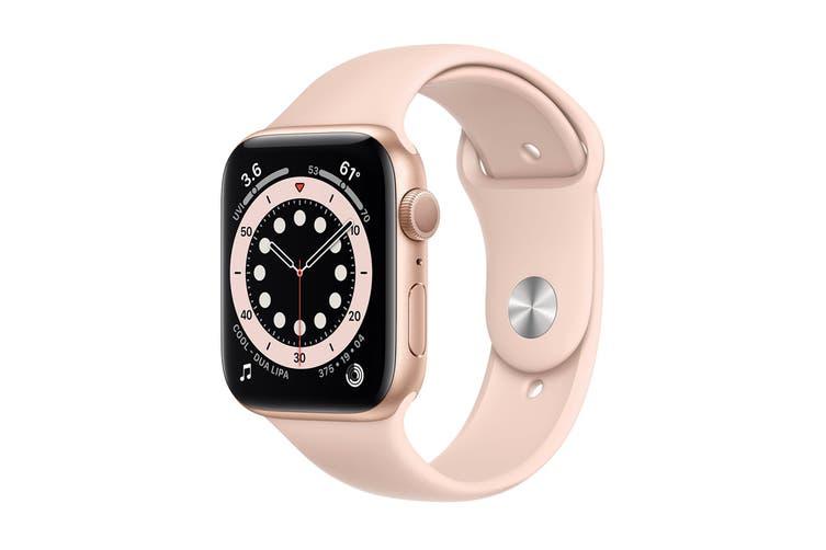 Apple Watch Series 6 (Gold Aluminum, 44mm, Pink Sand Sport Band, Cellular)
