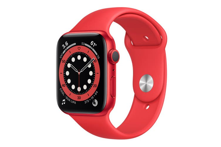 Apple Watch Series 6 ((PRODUCT)RED Aluminum, 44mm, Red Sport Band, GPS Only)