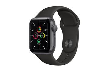 Apple Watch SE (Space Grey Aluminium, 40mm, Black Sport Band, Cellular)