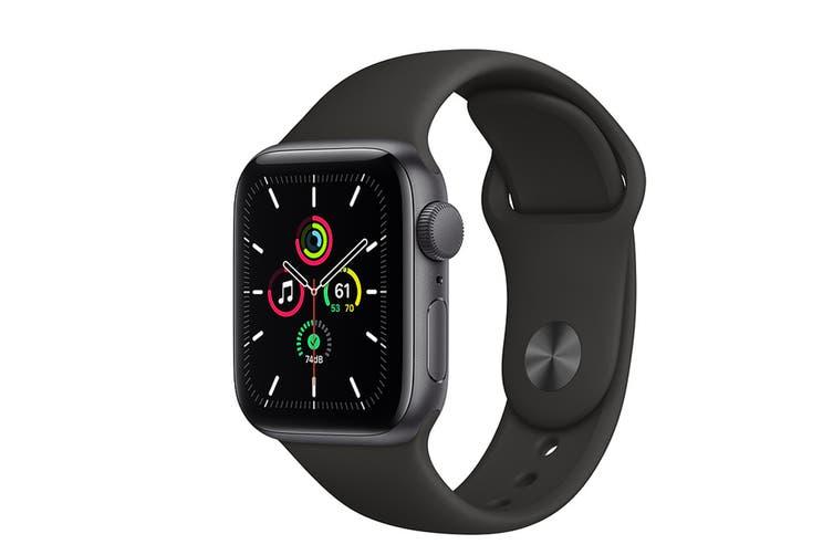 Apple Watch SE (Space Grey Aluminium, 40mm, Black Sport Band, Cellular)