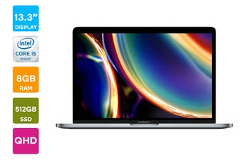 "Apple 13"" MacBook Pro 2020 MXK52 (1.4 GHz i5, 8GB RAM, 512GB SSD, Space Grey) - AU/NZ Model"