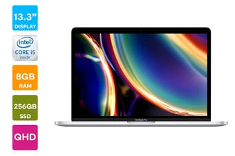"Apple 13"" MacBook Pro 2020 MXK62 (1.4 GHz i5, 8GB RAM, 256GB SSD, Silver) - AU/NZ Model"