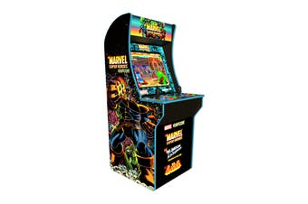 Arcade1Up Marvel 4 Arcade Machine with Arcade1Up Riser