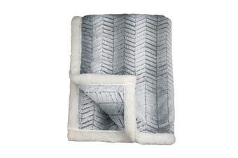 Ardor Hooded Chevron Faux Fur Blanket