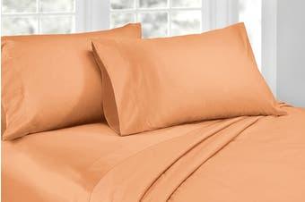 Ardor 1000TC Luxury Sheet Set (King, Peach)