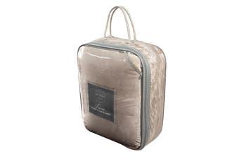 Ardor Boudoir Lucia Luxury Plush Velvet Blanket (Double, Stone)