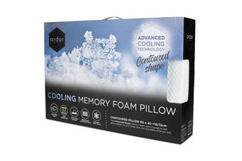 Ardor Cooling Memory Foam Pillow - Contoured
