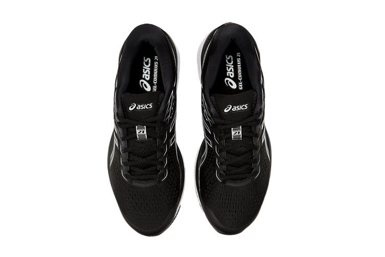 ASICS Men's GEL-CUMULUS 21 (Black/White, Size 12 US)