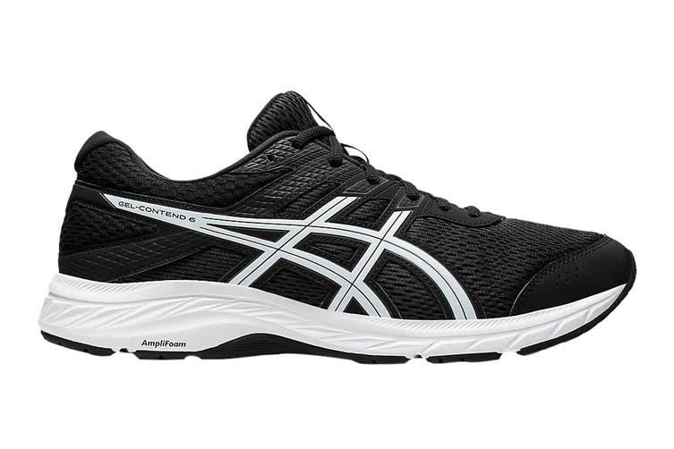 Asics Men's Gel-Contend 6 Running Shoe (Black/White, Size 10.5 US)