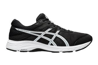 Asics Men's Gel-Contend 6 Running Shoe (Black/White, Size 9 US)