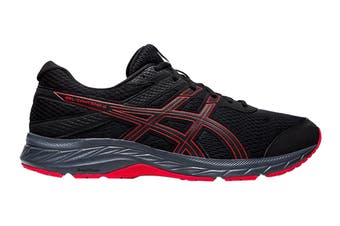 Asics Men's Gel-Contend 6 Running Shoe (Black/Classic Red, Size 9 US)