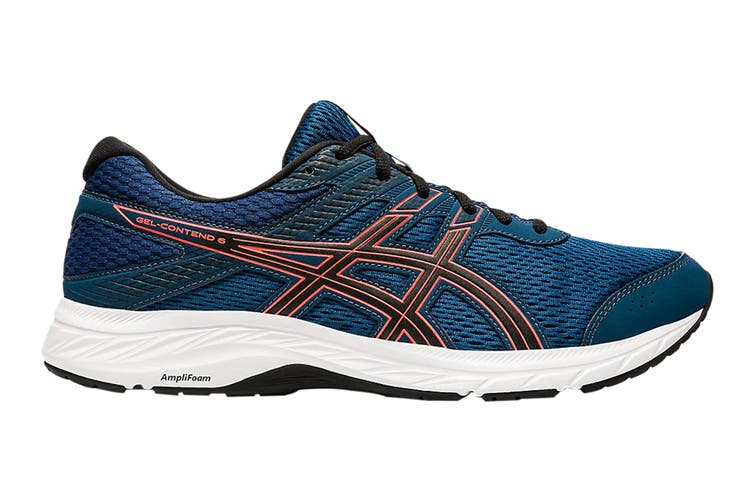 Asics Men's Gel-Contend 6 Running Shoe (Mako Blue/Sunrise Red, Size 11 US)