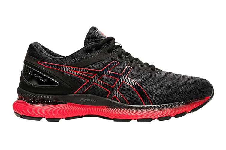 Asics Men's Gel-Nimbus 22 Running Shoe (Black/Classic Red, Size 11 US)