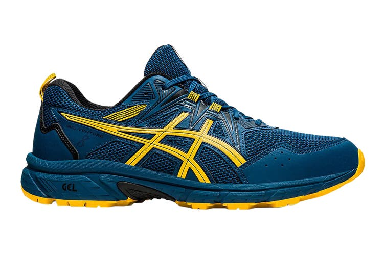 Asics Men's Gel-Venture 8 Running Shoe (Mako Blue/Saffron, Size 11.5 US)