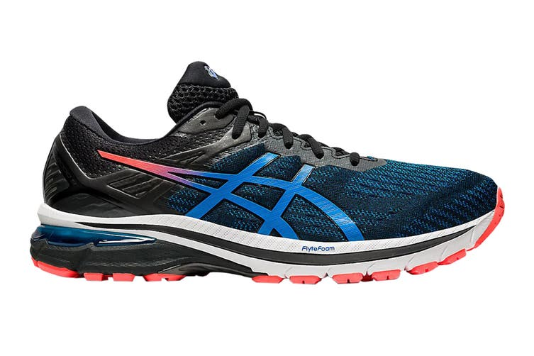 Asics Men's GT-2000 9 Running Shoe (Black/Directo Ire Blue, Size 8.5 US)