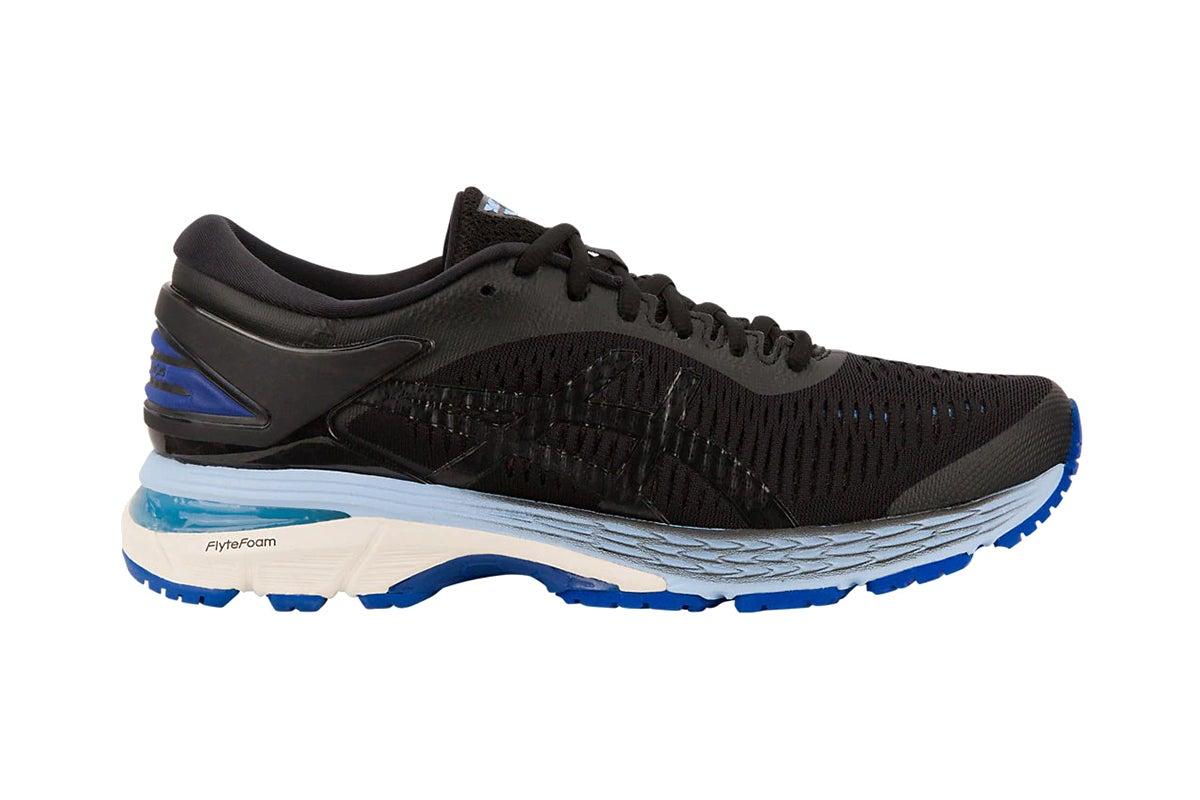 Gel-Kayano 25 Running Shoe (Black/Blue
