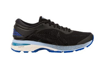 ASICS Women's Gel-Kayano 25 Running Shoe (Black/Blue)