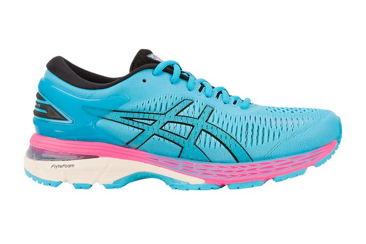 ASICS Women's Gel-Kayano 25 Running Shoe (Aquarium/Black, Size 6)