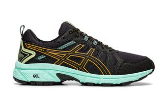 ASICS Women's Gel-Venture 7 Running Shoe (Black/Orange Pop, Size 9.5 US)
