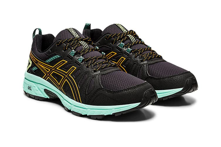 ASICS Women's Gel-Venture 7 Running Shoe (Black/Orange Pop, Size 7.5 US)
