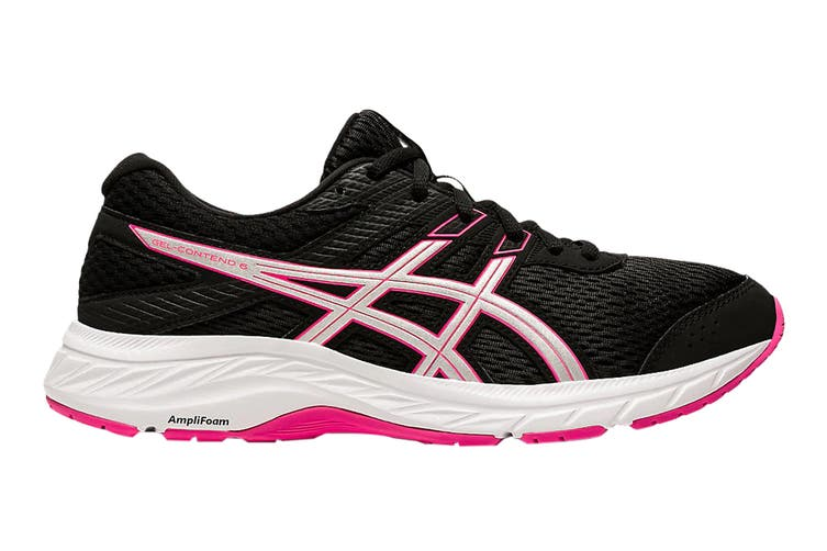 Asics Women's Gel-Contend 6 Running Shoe (Black/Pink Glo, Size 7.5 US)