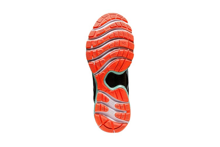 Asics Women's Gel-Nimbus 22 Running Shoe (Black/Bio Mint, Size 7 US)
