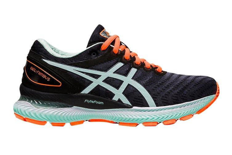Asics Women's Gel-Nimbus 22 Running Shoe (Black/Bio Mint, Size 9 US)