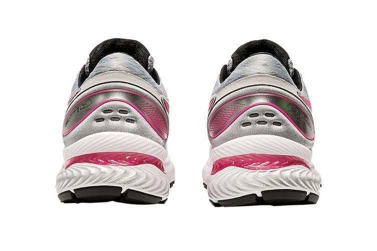 Asics Women's Gel-Nimbus 22 Running Shoe (Piedmont Grey/Hot Pink, Size 6.5 US)