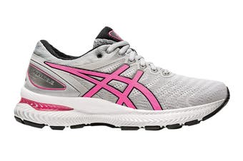 Asics Women's Gel-Nimbus 22 Running Shoe (Piedmont Grey/Hot Pink)