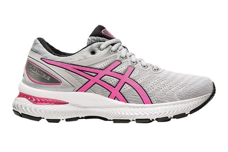 Asics Women's Gel-Nimbus 22 Running Shoe (Piedmont Grey/Hot Pink, Size 8 US)
