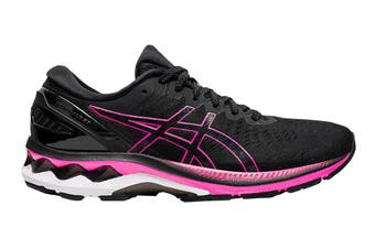 Asics Women's Gel-Kayano 27 Running Shoe (Black/Pink Glo, Size 10 US)