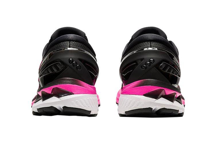 Asics Women's Gel-Kayano 27 Running Shoe (Black/Pink Glo, Size 9.5 US)