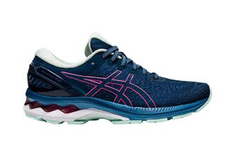 Asics Women's Gel-Kayano 27 Running Shoe (Mako Blue/ Hot Pink)
