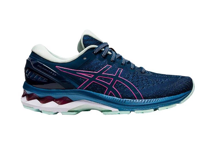 Asics Women's Gel-Kayano 27 Running Shoe (Mako Blue/ Hot Pink, Size 7.5 US)
