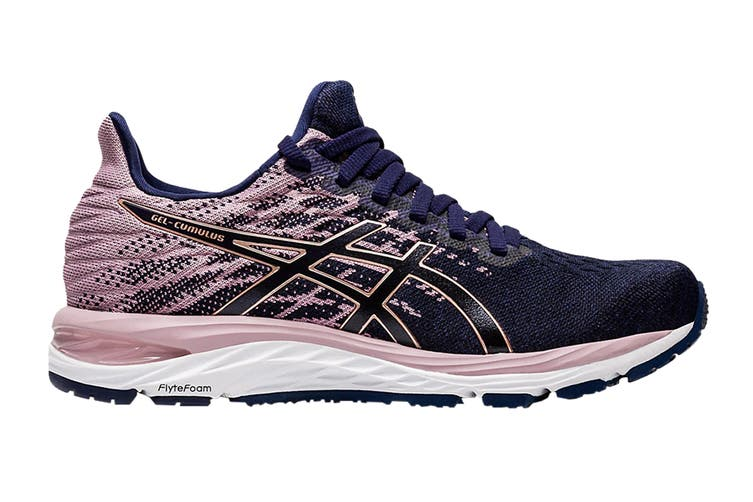 ASICS Women's GEL-CUMULUS 21 KNIT (Peacoat/Rose Gold, Size 9.5 US)