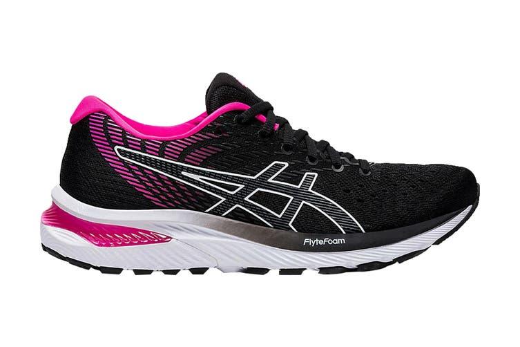 Asics Women's Gel-Cumulus 22 Running Shoe (Black/Pink Glo, Size 8 US)