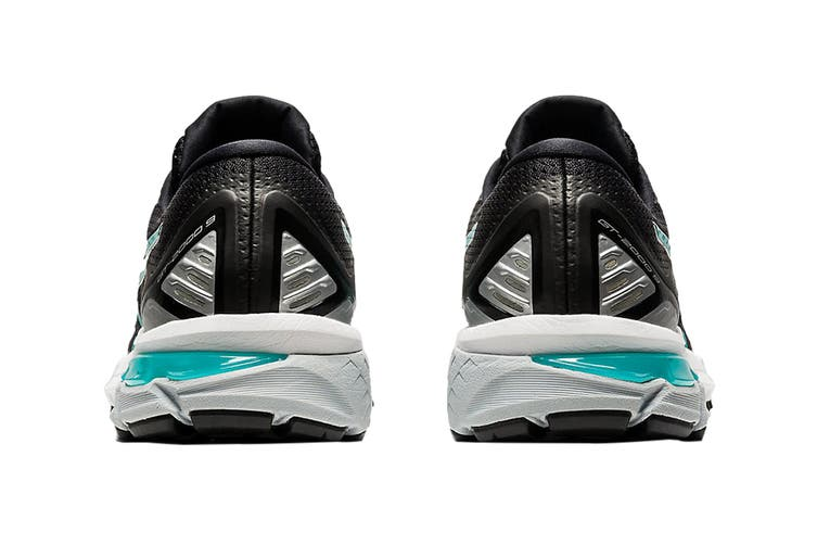 Asics Women's GT-2000 9 Running Shoe (Black/Techno Cyan, Size 11 US)