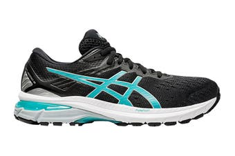 Asics Women's GT-2000 9 Running Shoe (Black/Techno Cyan, Size 12 US)