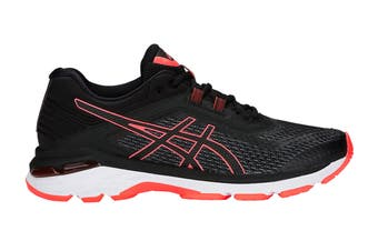 ASICS Women's GT-2000 6 Running Shoe (Black/Flash Coral Size 6)