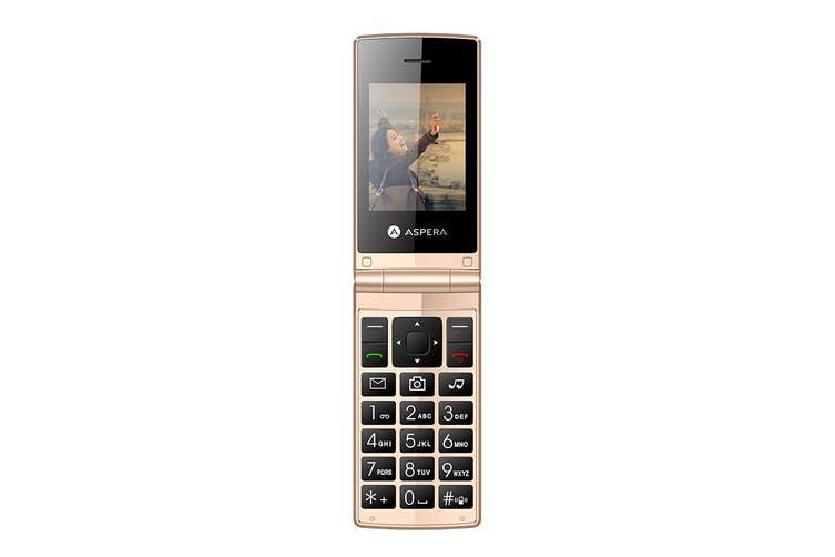 Aspera F24 Flip Phone (Gold)