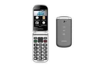 Aspera F40 Titanium 4G Flip Phone