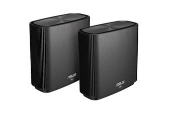 ASUS AC3000 Tri-band Whole-Home Mesh WiFi System with Free Network Security, 4X Gigabit Ports, 3 SSIDs & Parental Controls (ZenWIFI CT8)